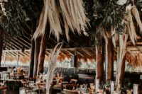 11 The venue felt really tropical with much greenery, pampas grass and flowers hanging overhead
