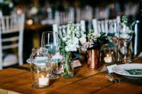 11 The wedding centerpieces were created by the florist