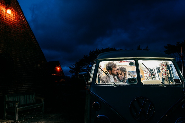 Look at that van, isn't it super cool and atmospheric for a couple of cozy pics