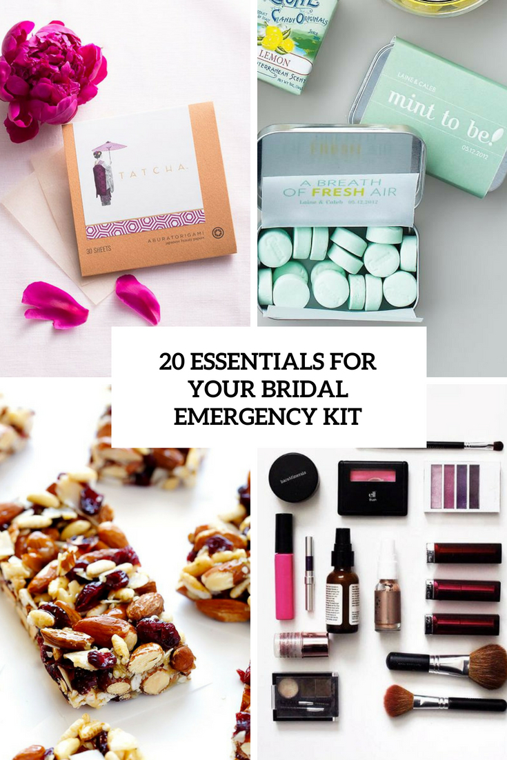 20 Essentials For Your Bridal Emergency Kit