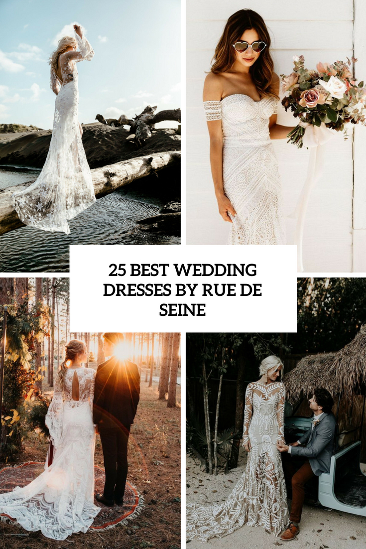 best wedding dresses by rue de seine cover