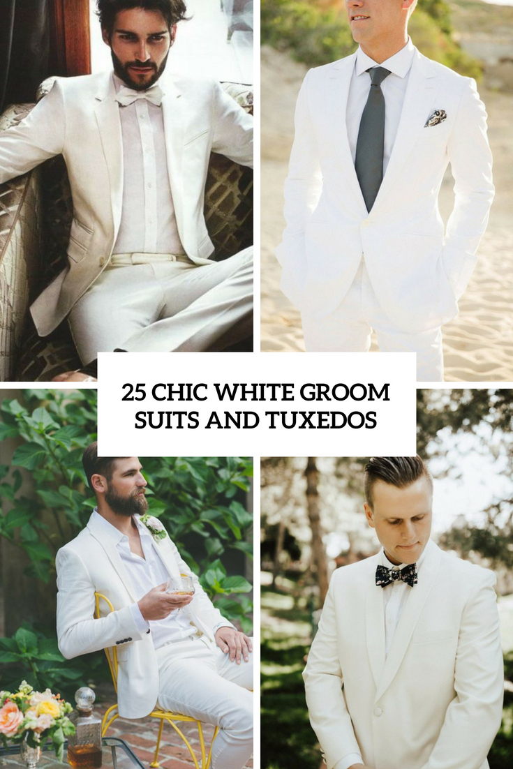 chic white groom suits and tuxedos cover