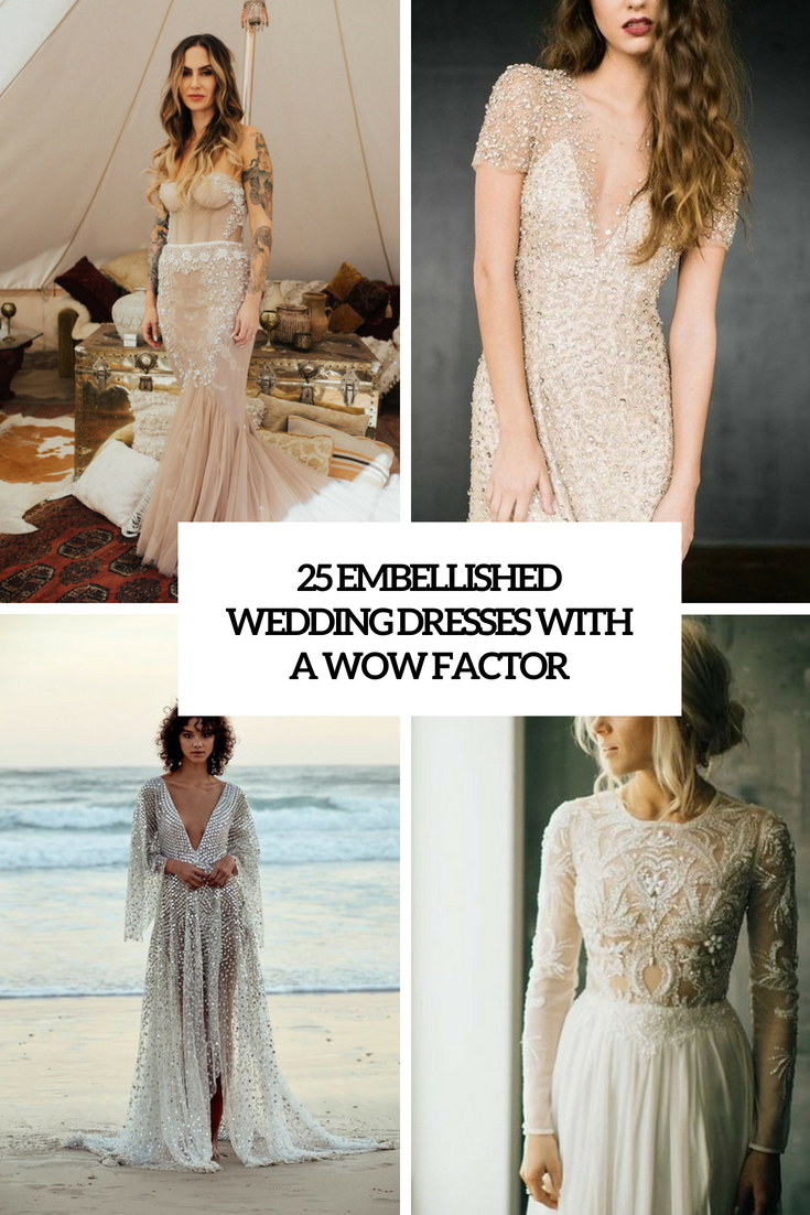 embellished wedding dresses with a wow factor cover