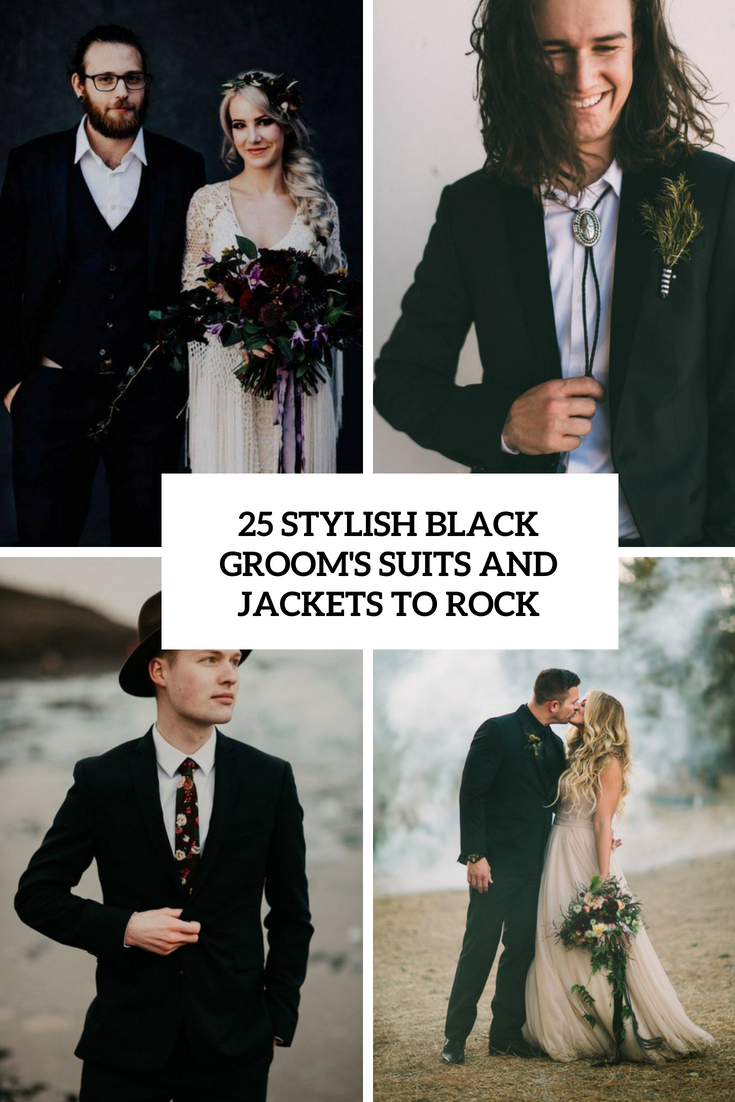 25 Stylish Black Groom Suits And Jackets To Rock
