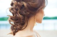 26 a half updo with a bump and curls down is an elegant and sexy option for every mom