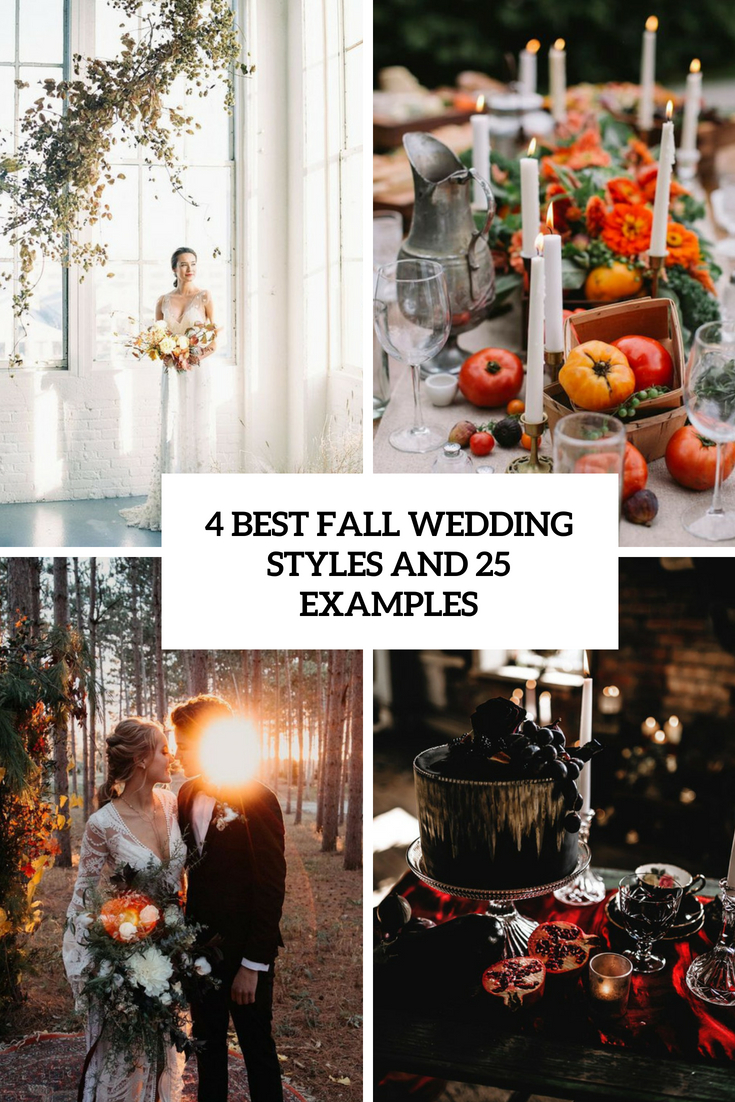 4 best wedding styles and 25 examples cover