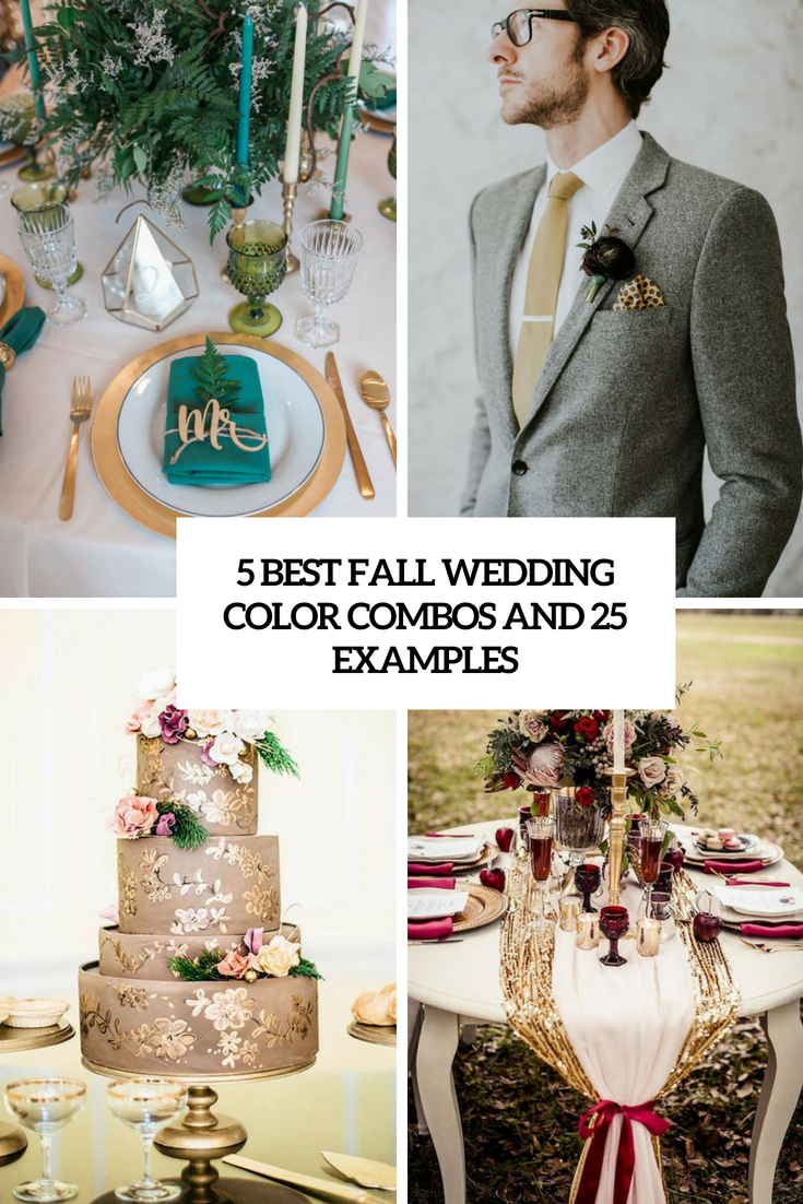 5 best fall wedding colors combos and 25 examples cover
