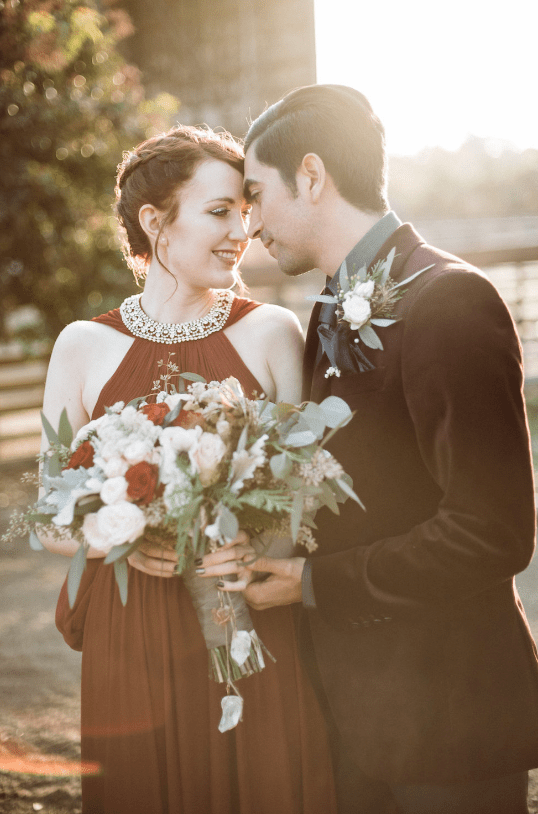 Modern Winter Witch Wedding With A Rich Color Palette