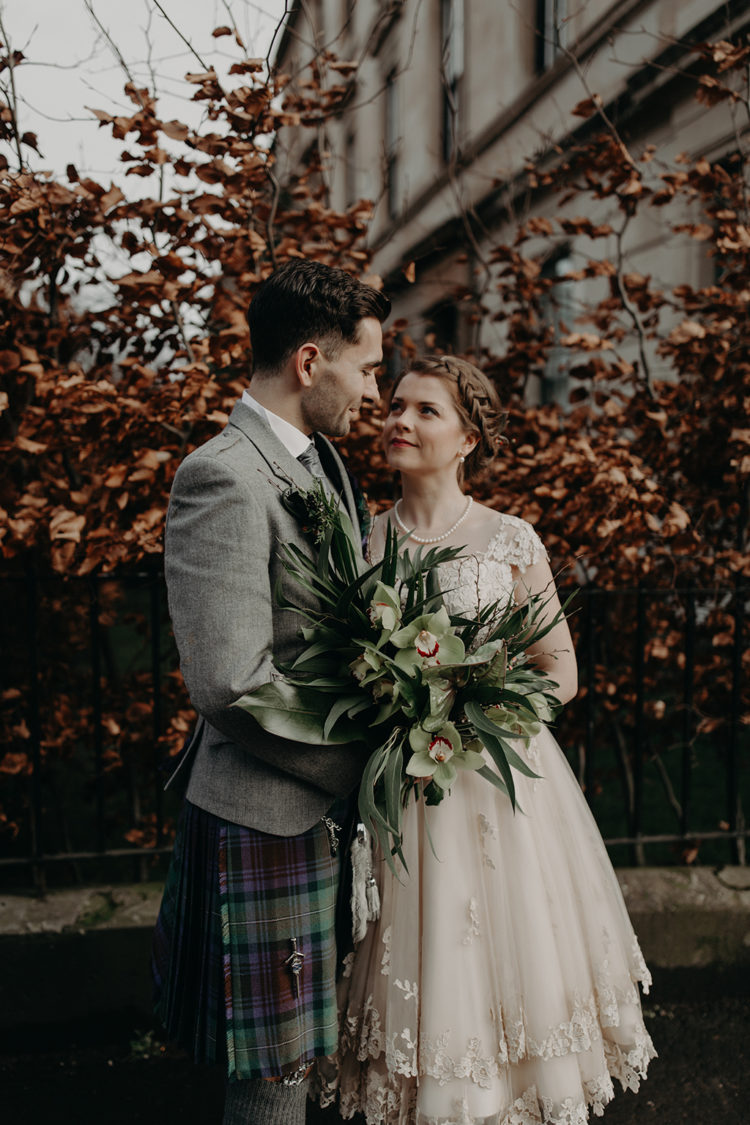 This beautiful couple was inspired by South French culture and their Scottish heritage