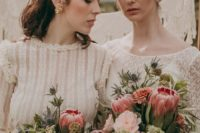 01 This beautiful elopement shoot with two brides is boho and rustic with a strong vintage flavor