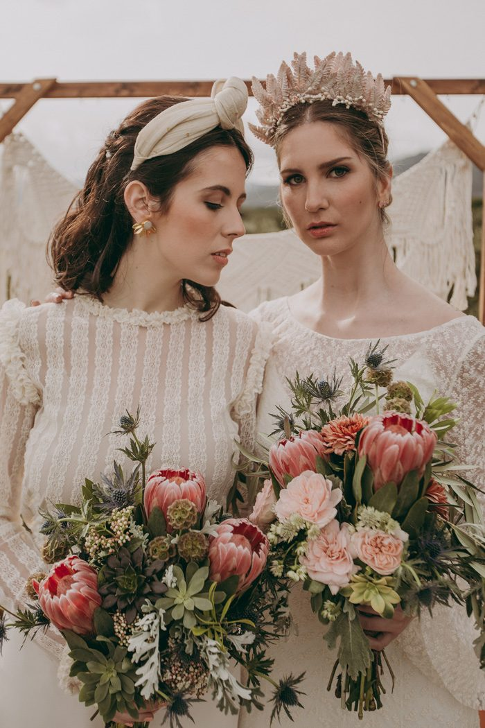 Spanish Rustic Boho Elopement Shoot