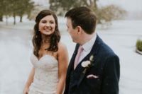 01 This gorgeous wedding in the snow was filled with personalized touches and rustic romance