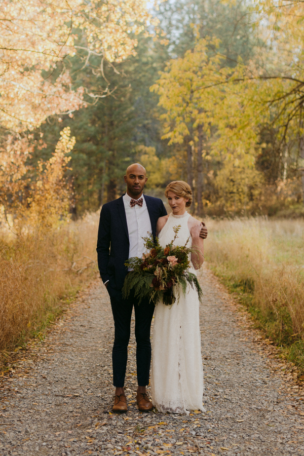 Modern And Moody Fall Wedding Shoot