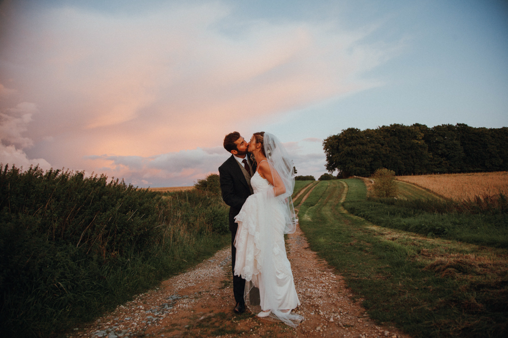 This rustic wedding was inspired by Glastonbury festival and everyone had a lot of fun