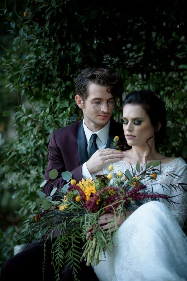This wedding shoot was inspired by Harry Potter and magic on the whole, it showed off refined vintage details and beauty