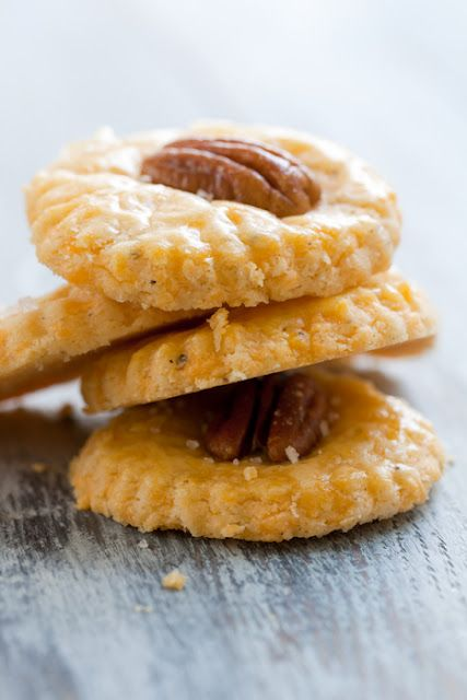 savory cheese crisps with pecans are a cool fall appetizer idea for every wedding