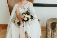 03 black floral wedding booties are a bold fashion statement for a fall bride