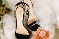 05 elegant black velvet heeled sandals are a timeless idea for any kind of wedding