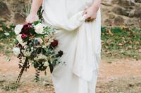 06 brown boots are a great complement to a boho bridal look and are comfy for outdoors