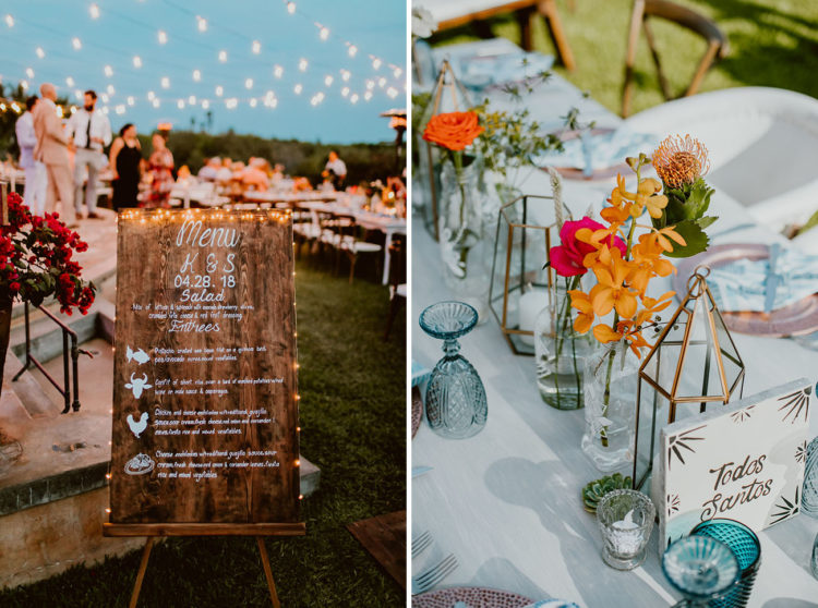 The couple incorporated many personazlied touches into decor