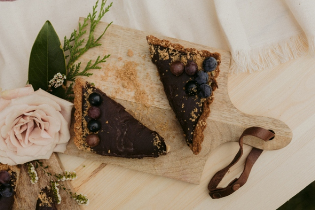 And some chocolate tarts with berries, they look just delicious