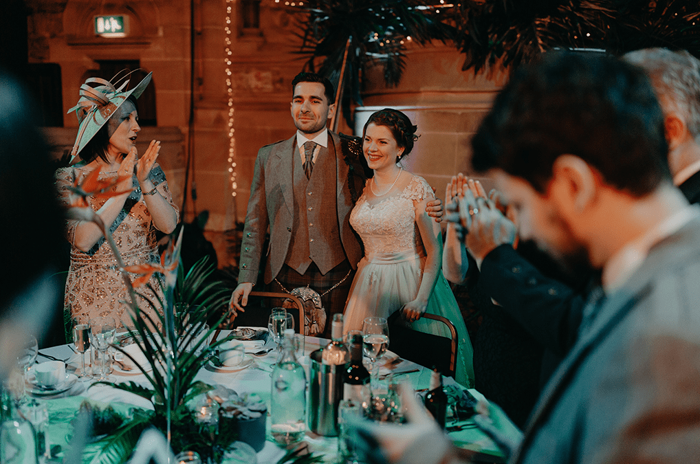 Everyone had a lot of fun at this tropical inspired wedding with a vintage feel