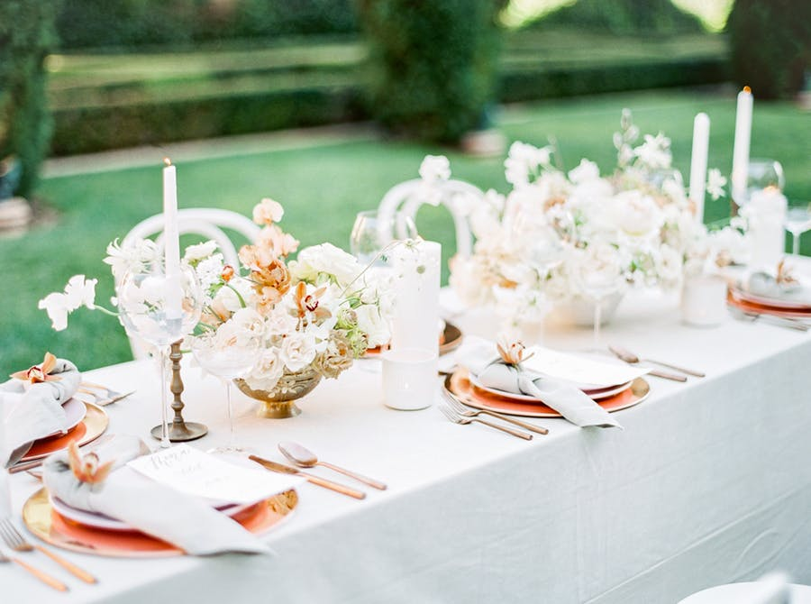 The guest table was styled in a bit different way