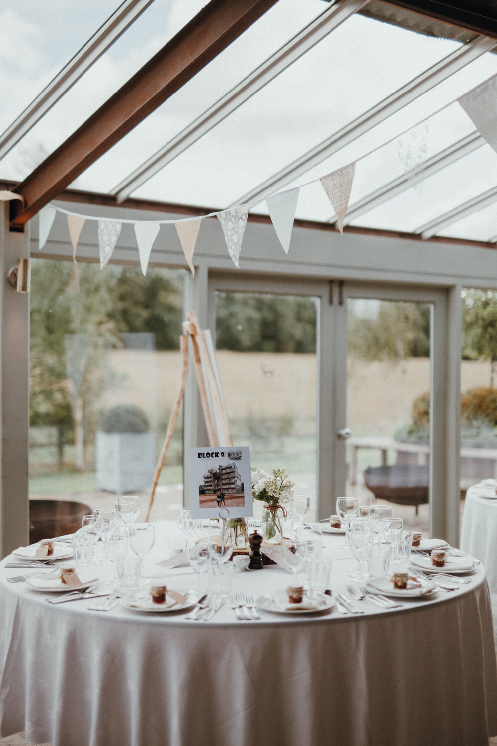 The venue felt very inviting and light filled, the tables were decorated with couple's pics
