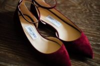 12 chic maroon suede flats with ankle straps to add a colorful touch to your look