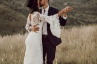 13 add a black hat to your lace wedding gown and you'll immediately get a more boho look