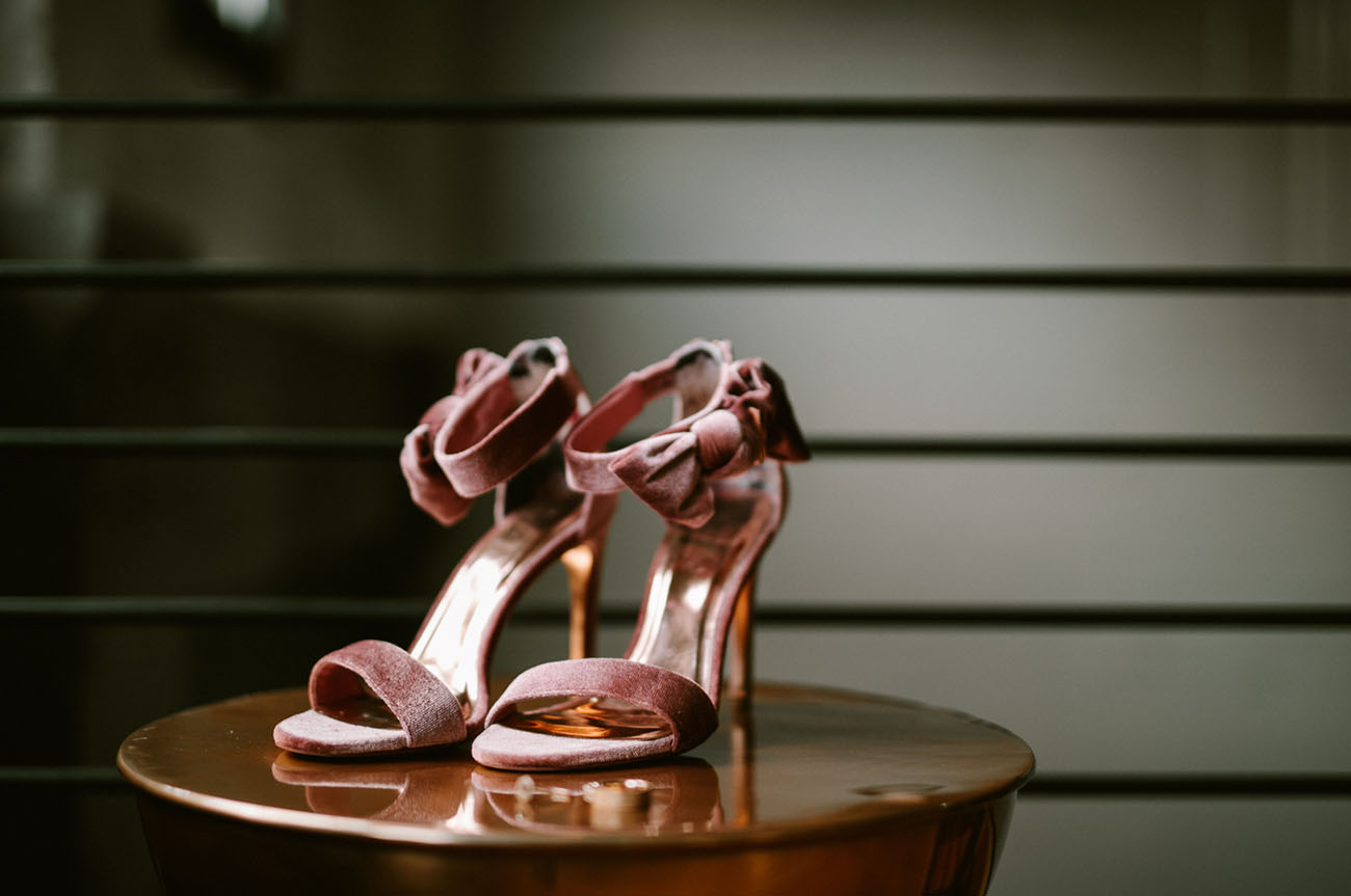 rose pink velvet heels with ankle bows  look super glam and super cute