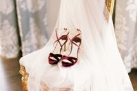 17 burgundy velvet bridal heeled sandals with straps for a catchy and trendy look
