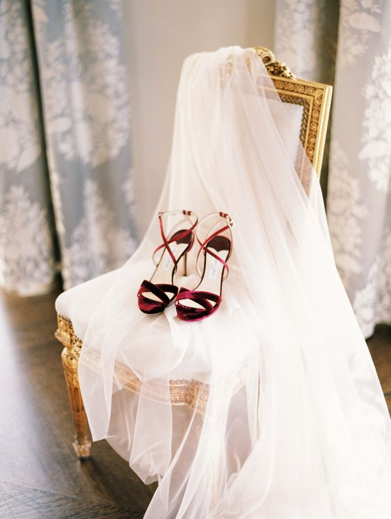 burgundy velvet bridal heeled sandals with straps for a catchy and trendy look