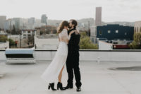 18 black cowboy-style wedding booties for a boho chic bride with a touch of rock