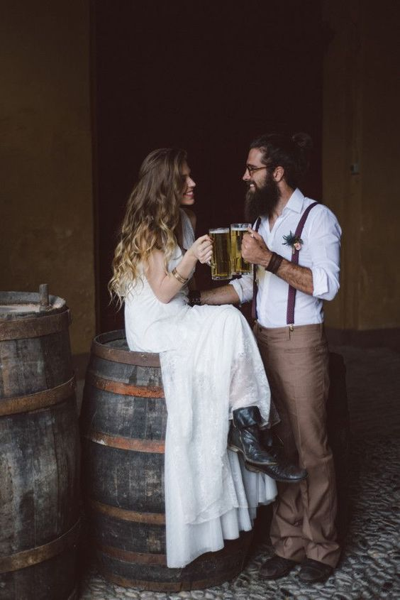 black leather boots are a nice choice for a rustic wedding or an elopement somewhere