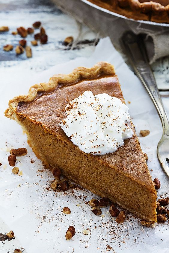 a pumpkin pie is a perfect idea for the fall, you don't need other sweets