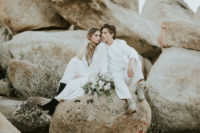 25 black suede boots are right what you need for a comfortable desert elopement