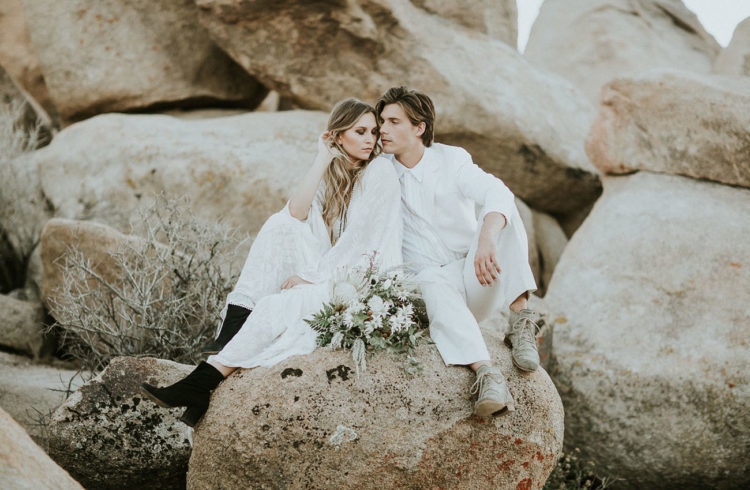 black suede boots are right what you need for a comfortable desert elopement