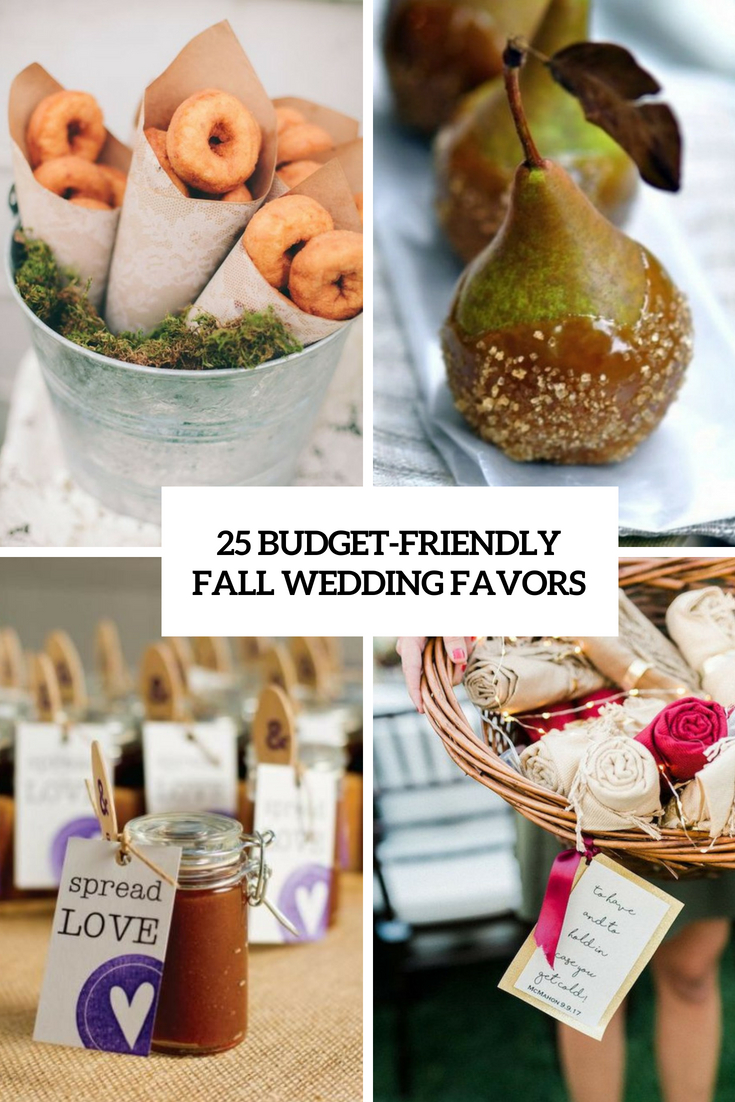 budget friendly fall wedding favors cover