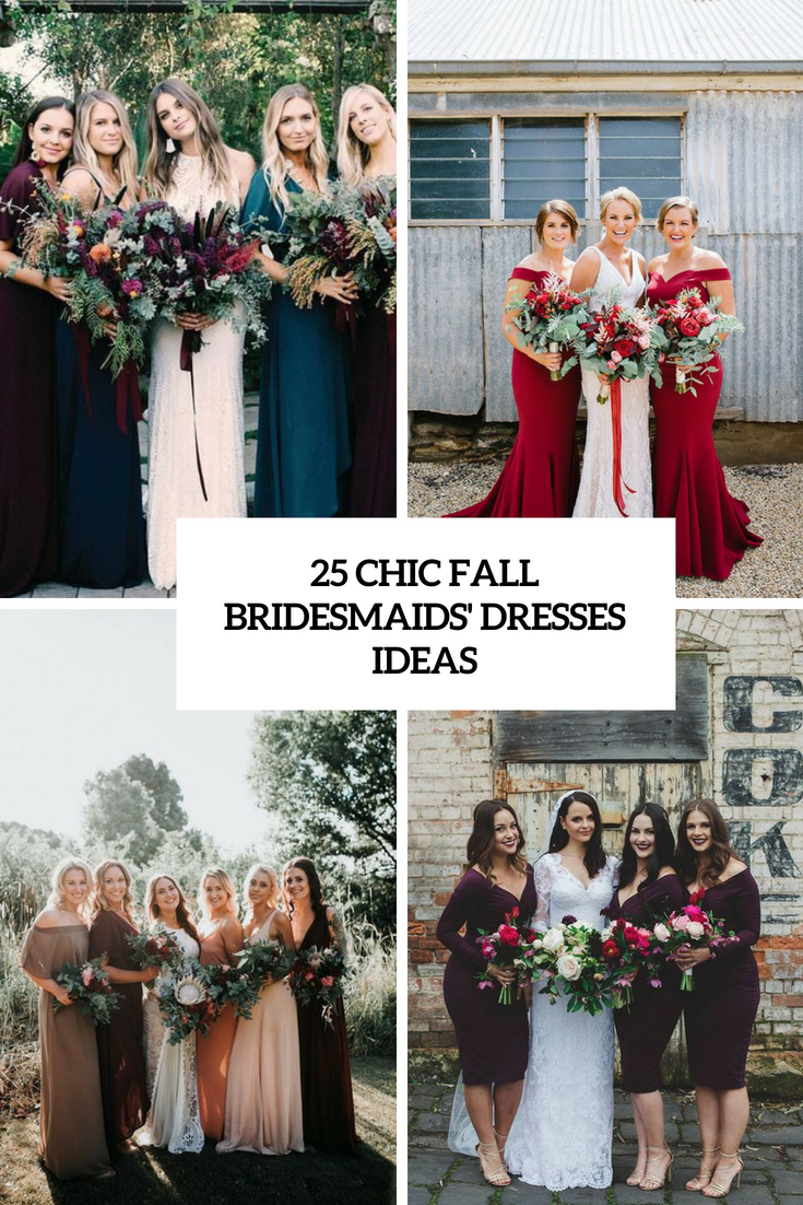 chic fall bridesmaids' dresses ideas cover
