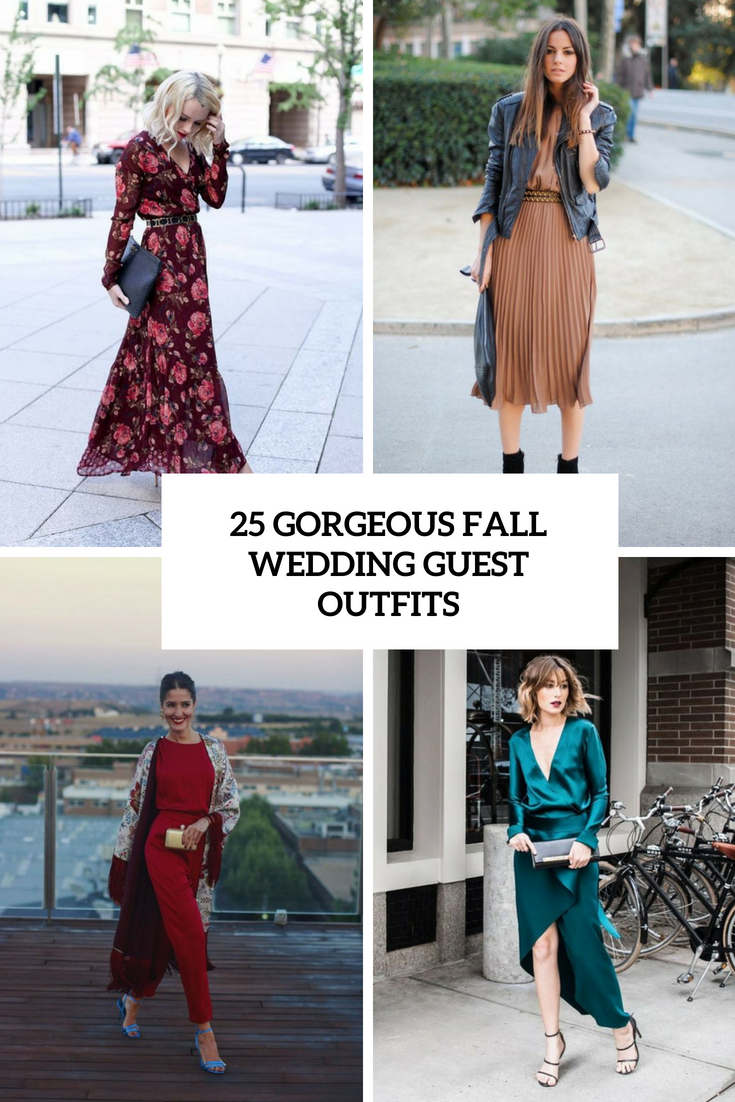 gorgeous fall wedding guest outfits cover