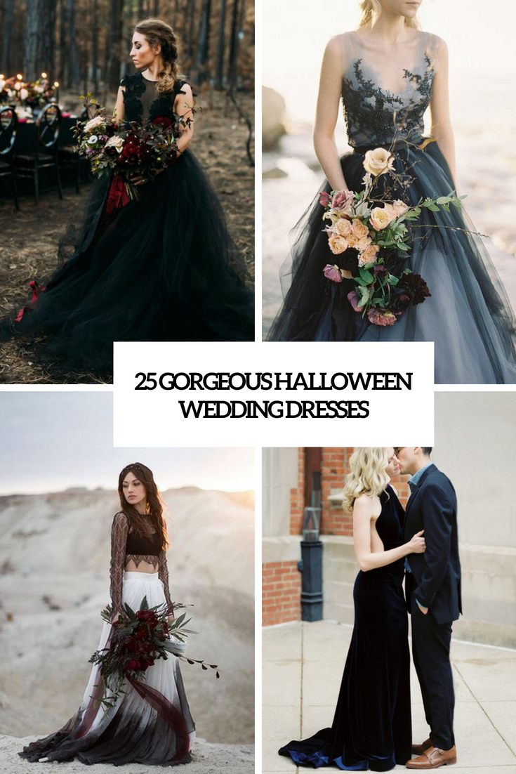 25 gorgeous halloween wedding dresses