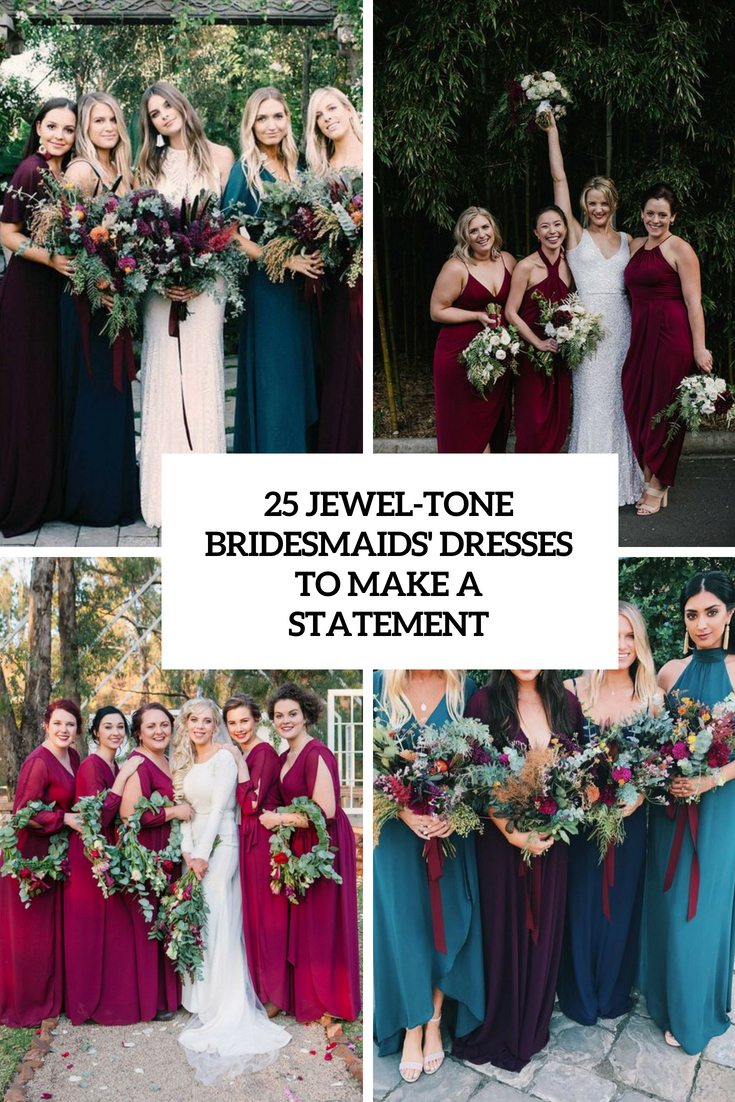 jewel tone bridesmaids' dresses to make a statement cover