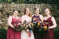 plus size fall colored dresses for bridesmaids
