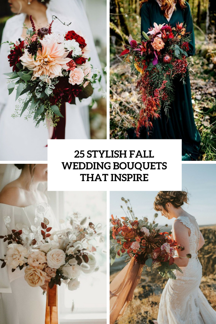 stylish fall wedding bouquets that inspire cover