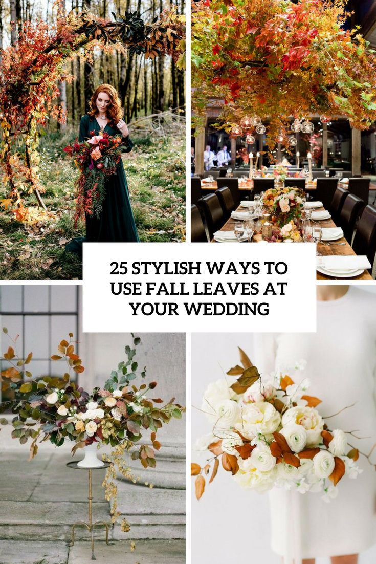 stylish ways to use fall leaves at your wedding cover