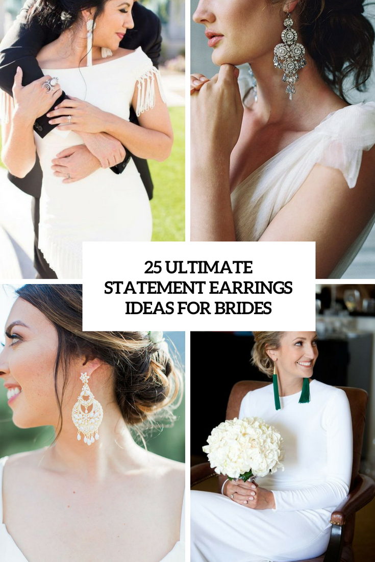 ultimate statement earrings ideas for brides cover