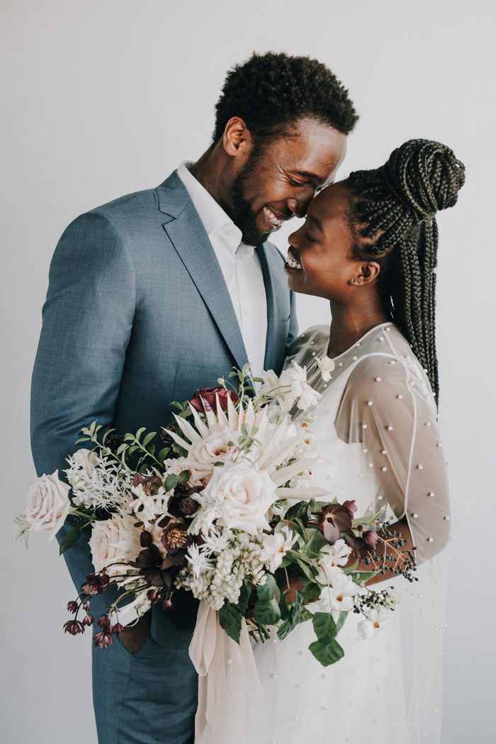 This beautiful and inspiring wedding shoot features both boho and modern styles fused very harmoniously