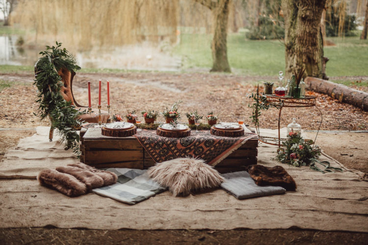 This boho chic meets rustic wedding shoot is a great source of inspiration