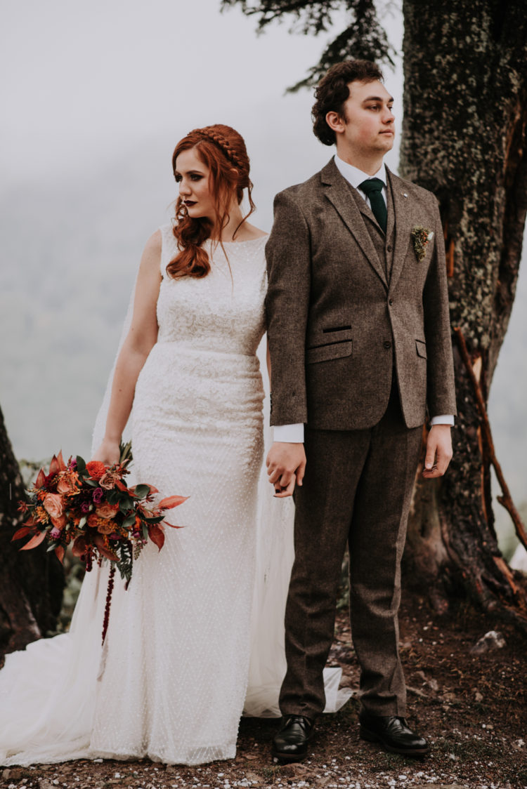 This couple went for a Harry Potter inspired wedding in the mountains